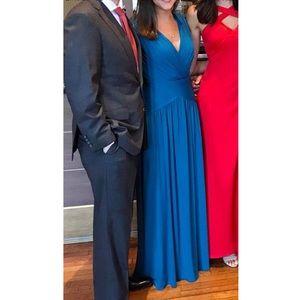 BCBG Blue Gown. size XXS, fits like a size 0.